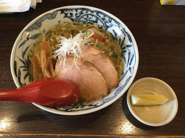 「冷やし香味塩中華そば(¥780)」@中華そば 東京ぐれっちの写真