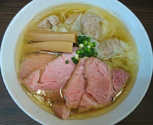 「塩ワンタン麺¥850+チャーシュー¥200=¥1050」@中華そば さわの写真