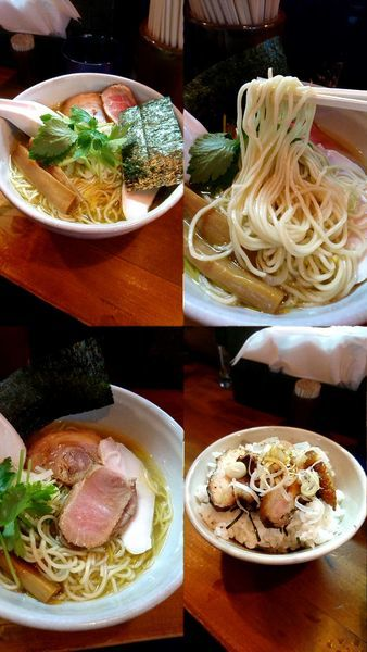 「『天草大王鶏塩そば+焼豚丼(¥750+350)』」@らーめん つけめん 和み屋の写真