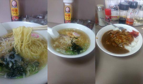 「ラーメン(塩)+半カレーライスの『Bセット(¥800)』」@カツミ軒の写真