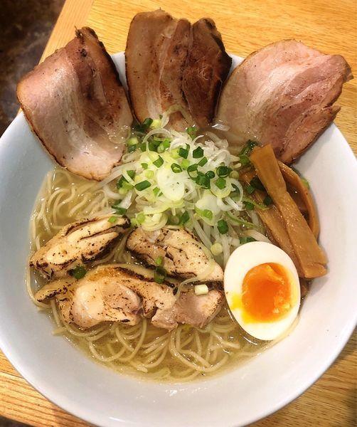 「鶏チャーシュー麺(塩)」@めんや 正明の写真