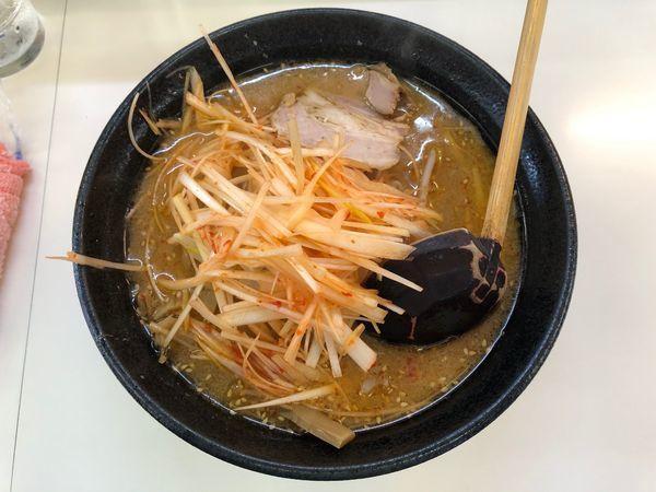 「ねぎみそらーめん(太麺)」@らーめん みずきのの写真