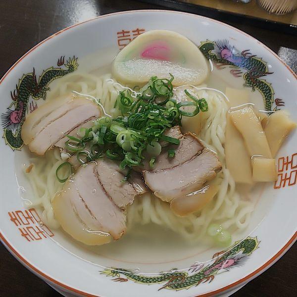 「中華そば+ネギ」@自家製麺中華そば 番家の写真