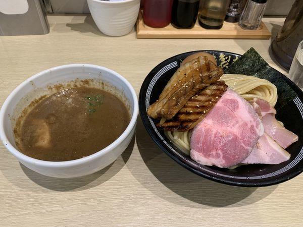 「濃厚煮干しつけ麺」@心の味製麺の写真
