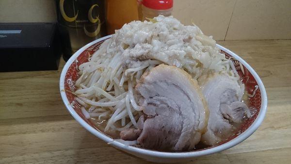 「塩ラーメン・大(ニンニク少しヤサイアブラ)¥900」@ラーメン 登良治郎の写真
