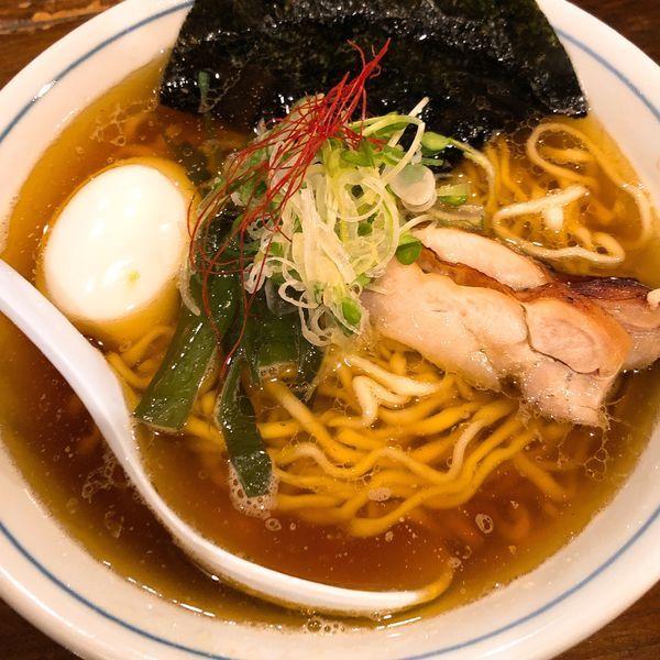 「中華そば  ¥650+味玉 ¥100」@らぁめん 欽山製麺所の写真