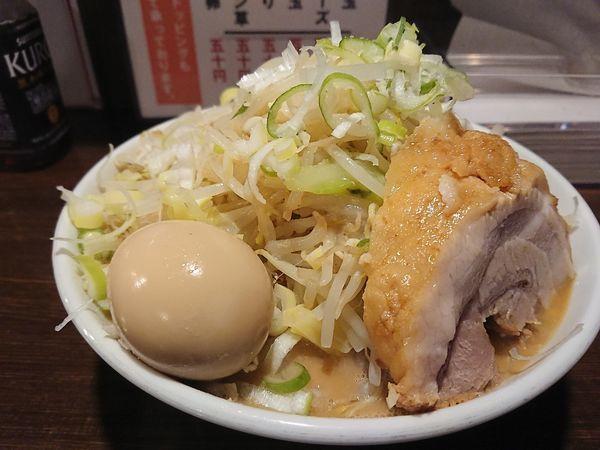「味玉ラーメン 豚① 大盛」@ちばから 渋谷道玄坂店の写真