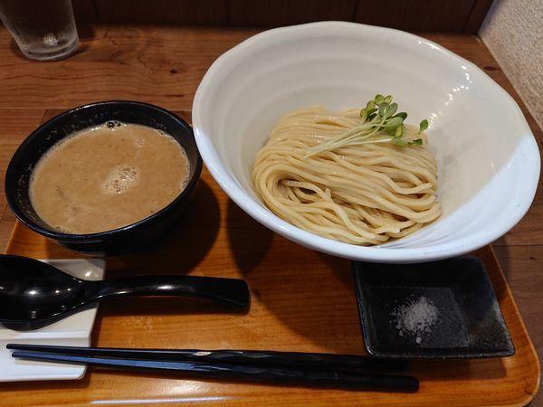 「限定 太麺 鶏白湯つけ麺ジンジャー」@ラーメン 健やかの写真