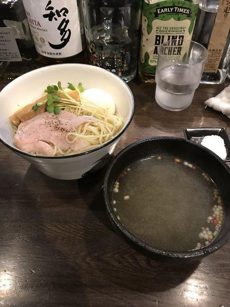 「真鯛塩つけsoba 福寿+味玉」@らぁ麺BAR 錦 iwamotoの写真