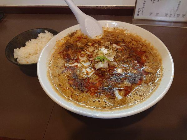 「限定 担々麺(小ライス付き)」@鶏こく中華 すず喜の写真