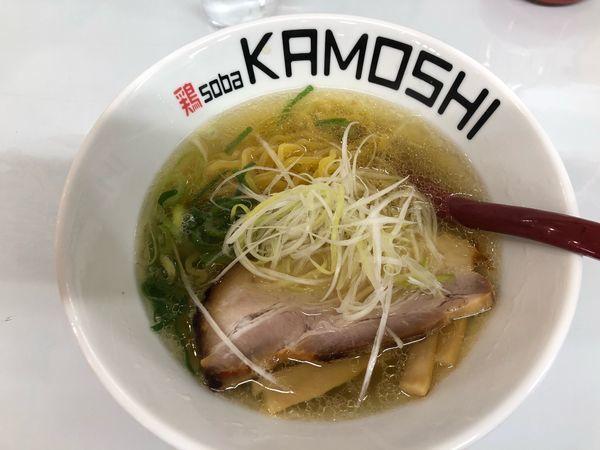 「塩ラーメン」@鶏 soba KAMOSHIの写真