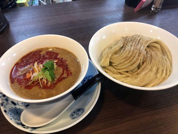 「濃厚辛つけ麺 850円」@らぁ麺 紫陽花の写真