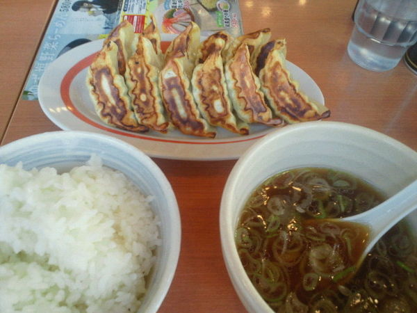 「ダブル定食 600円」@幸楽苑 矢野目店の写真