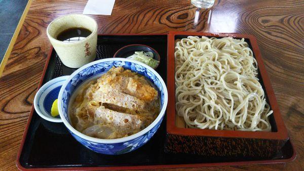 「もりそば+ミニカツ丼」@学園吾妻庵の写真