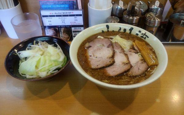 「半チャーシュー麺 (ロース) 野菜増(LINEチケット使用)」@創作らーめん 小川流 二本松店の写真
