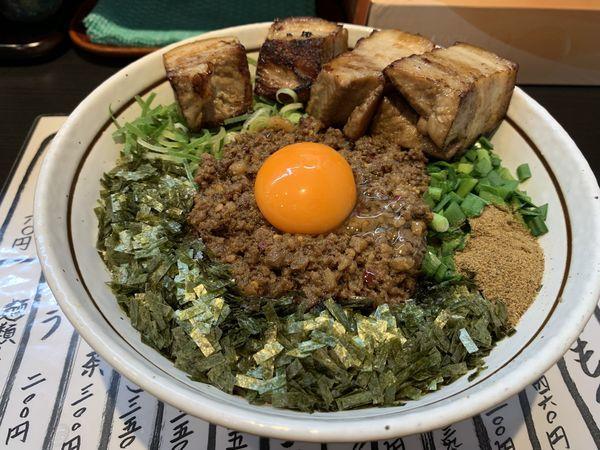「ど肉台湾まぜそば」@麺屋やまと 岐阜本店の写真