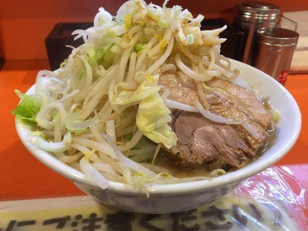 「豚入りラーメン麺大盛り(ヤサイネギ)」@ちばからの写真