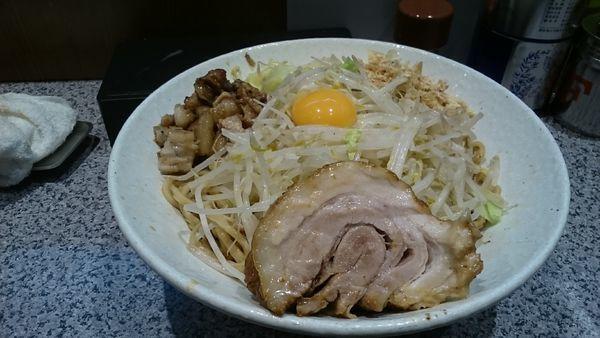 「汁なしそば・大(ニンニク抜きヤサイアブラ)¥900」@ラーメン宮郎の写真
