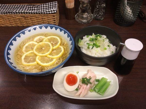 「塩レモンそば+チーユご飯」@GANCON NOODLEの写真