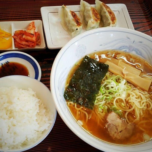 「ラーメン定食 500円」@食事処  いなかやの写真