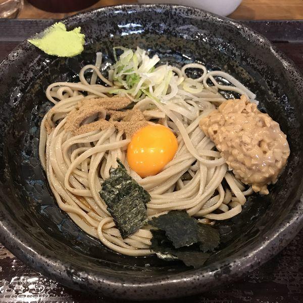 「納豆(¥500)」@蕎麦 冷麦 嵯峨谷 池袋店の写真
