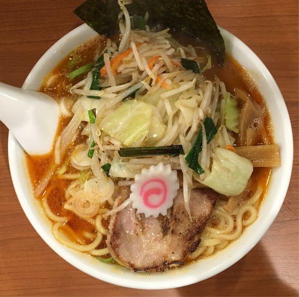 「野菜らーめん+辛み(3辛)」@大勝軒まるいち 西荻窪店の写真