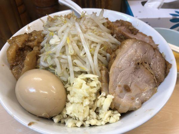 「汁なし(にんにく)+味玉¥880」@自家製ラーメン 大者の写真
