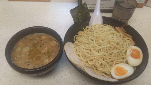 「味噌チャーシューつけ麺」@こってりらーめん なりたけ 津田沼店の写真