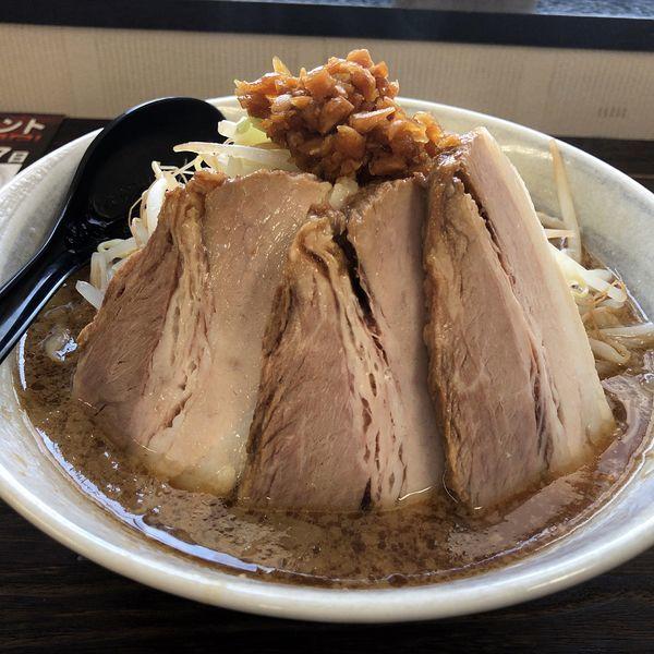 「光太らーめんニンニク(麺普通、量普通、アブラ少なめ)700円」@光太ラーメンの写真