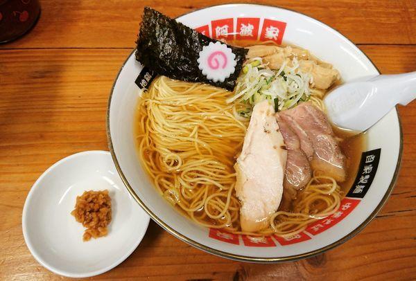 「中華そば(大盛り) 710円」@阿波家 信州始店の写真