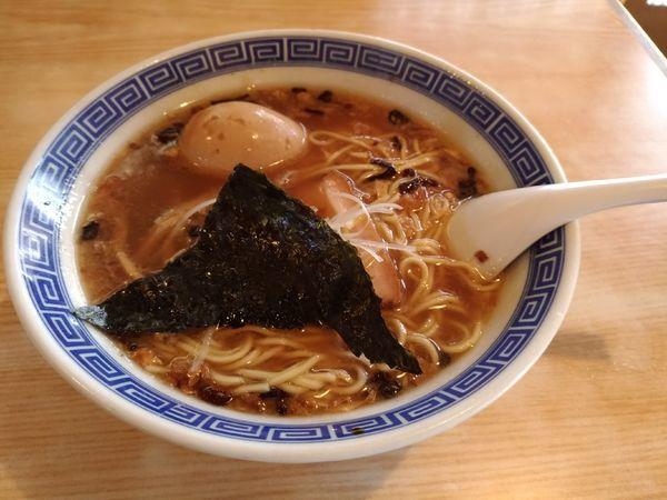 「中華そば(動物系)+味玉」@おかめの写真