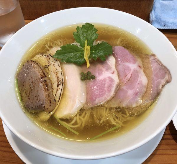 「琥珀LABO蕎麦1200円」@麺LABOひろの写真