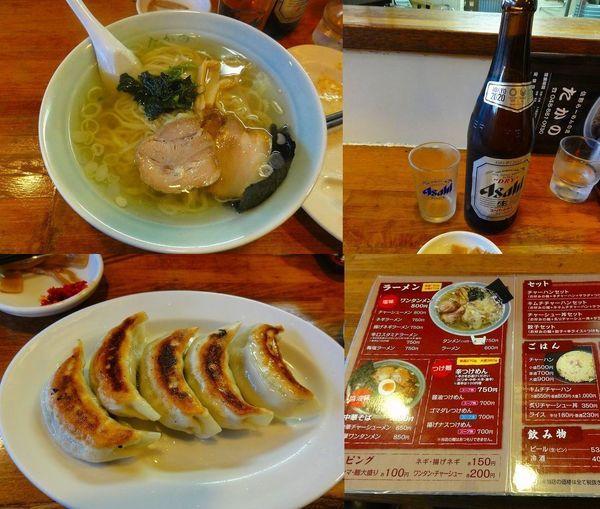 「ラーメン600円ビール530円餃子350円(外税)」@佐野ラーメン たかのの写真
