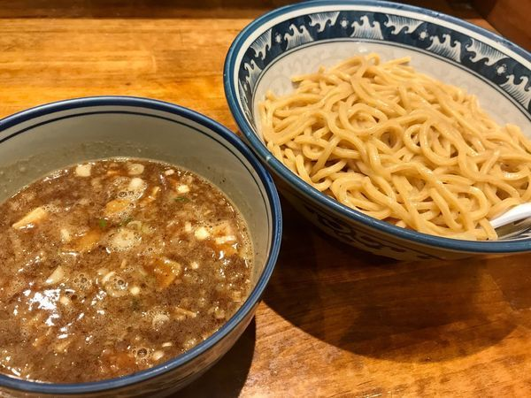 「濃厚つけ麺(大盛360g)800円」@めいげんその写真
