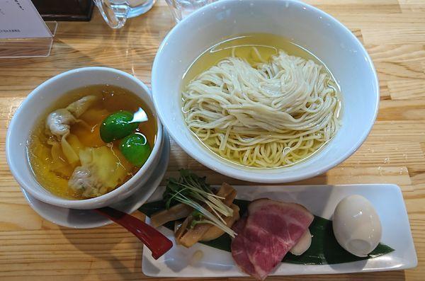 「濃厚清湯 白醤油つけ麺(1000円)」@自家製麺 くろ松の写真