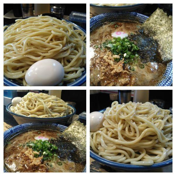 「【土日限定】黒マー油つけ麺+特盛」@狼煙 〜NOROSHI〜の写真
