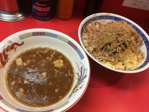 「つけ麺¥850+魚盛り¥100」@ジャンプの写真
