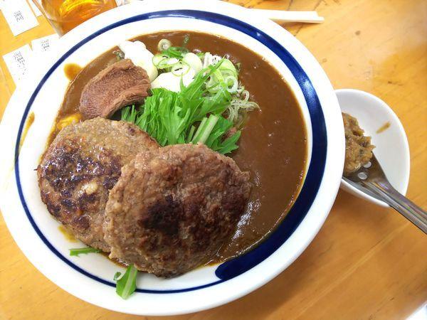 「【限定】和牛タン先カレーSダブルハンバーグ+α 2500円」@MENYA 食い味の道有楽の写真