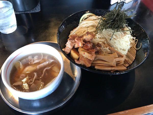 「豚のつけ麺(細麺仕様)中盛 OXP 980円」@麺坊 炗の写真