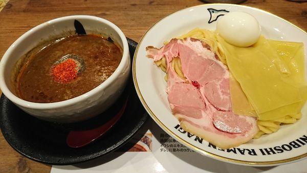 「味玉辛い煮干つけ麺(1070円)」@NIBOSHI TSUKEMEN 凪 大宮南銀通り店の写真