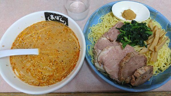 「つけ麺(細)1070円」@横浜ラーメン あばん 上尾西口駅前店の写真