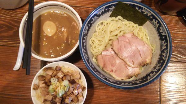 「特製つけ麺大盛」@らーめん木尾田の写真