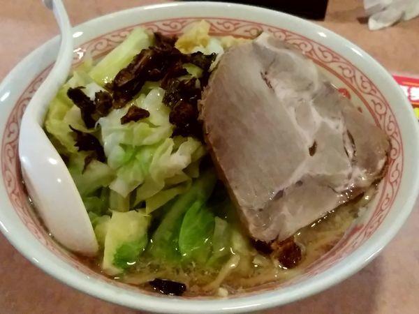 「塩キャベふじ麺(中盛・260g)790円→700円」@特級豚骨 中華そば湊生の写真