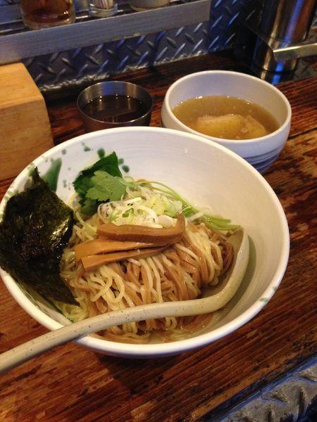 「ザ・しおつけ麺 並 【温かいスープ】」@啜磨専科の写真