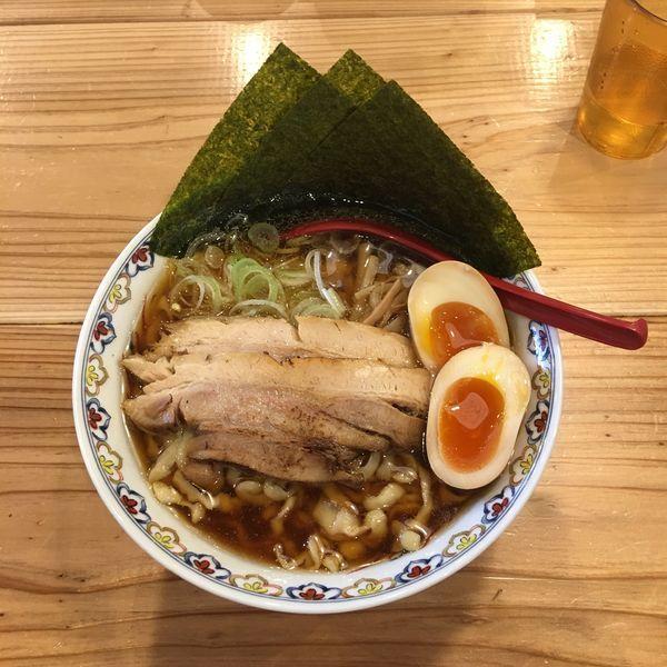 「特製醤油ラーメン 大盛り」@くじら食堂 nonowa東小金井店の写真