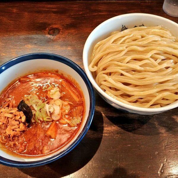 「期間限定 ウマカラ豚鶏ツケメン」@つけ麺 ジンベエの写真
