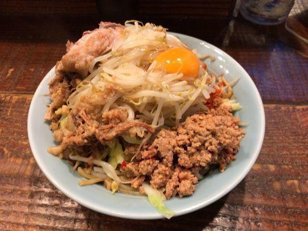「汁なし麺(900円)」@立川マシマシの写真