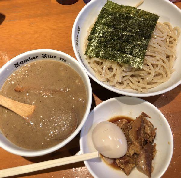 「贅沢濃厚つけ麺 大盛」@麺Dining Number Nine 09の写真