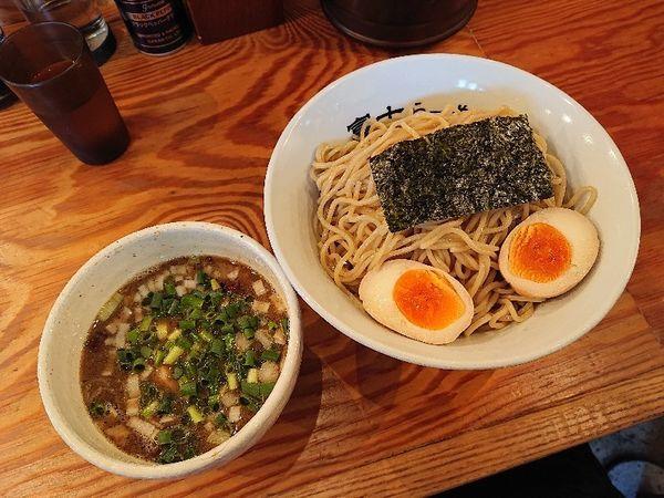 「つけ麺+かつお味玉」@富士らーめんの写真