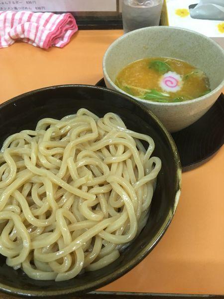 「特製ラー油入り塩つけ麺中盛(900円)」@麺道 奉天の写真